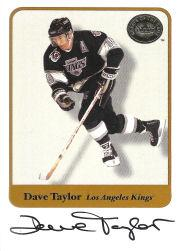 2001-02 Greats of the Game Autographs #61 Dave Taylor