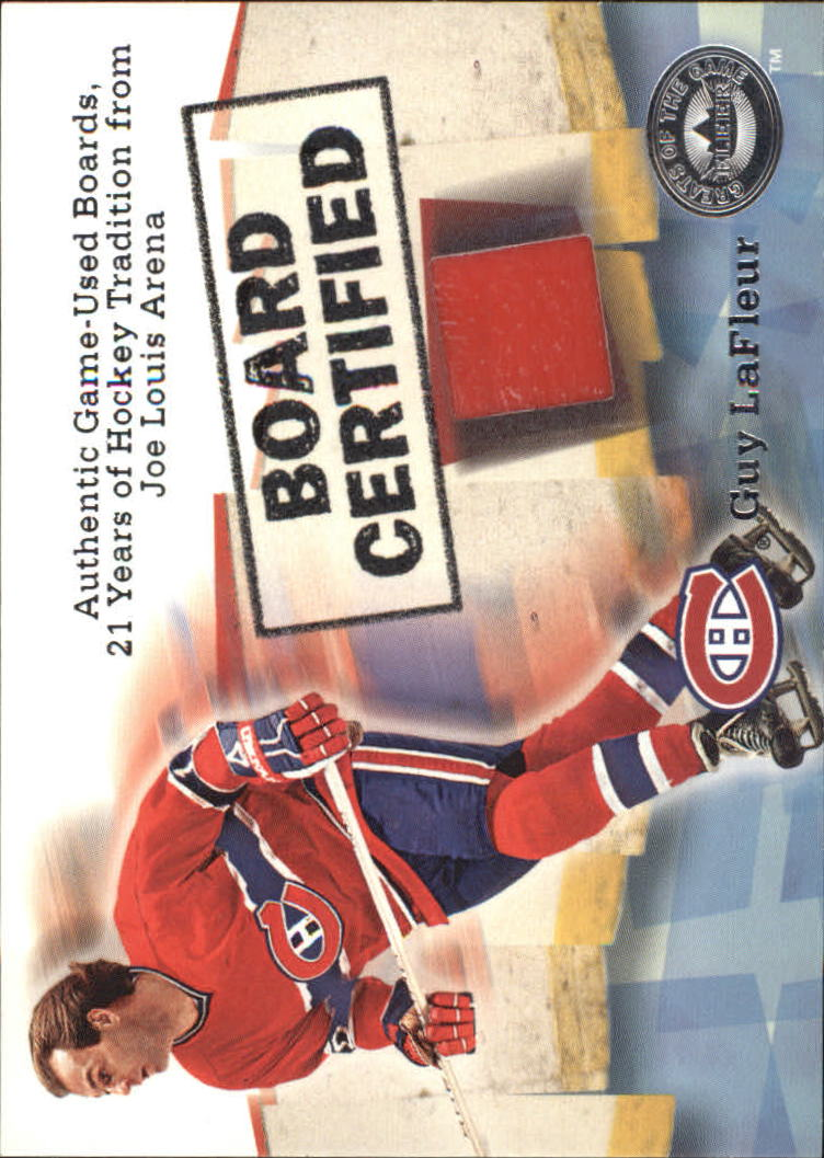 2001-02 Greats of the Game Board Certified #2 Guy LaFleur