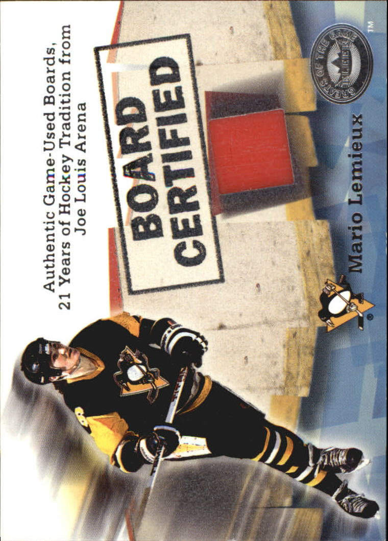 2001-02 Greats of the Game Board Certified #3 Mario Lemieux