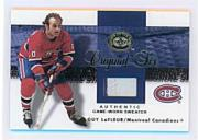 2001-02 Greats of the Game Jerseys Patches Gold #4 Guy LaFleur