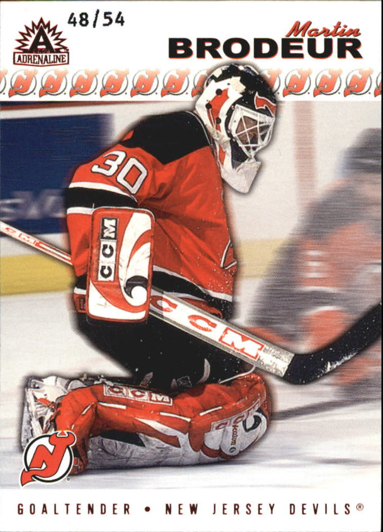 2001-02 Pacific Adrenaline Red #111 Martin Brodeur