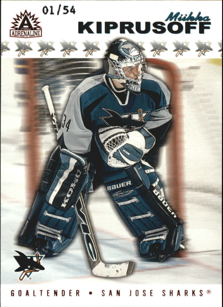 2001-02 Pacific Adrenaline Red #165 Miikka Kiprusoff