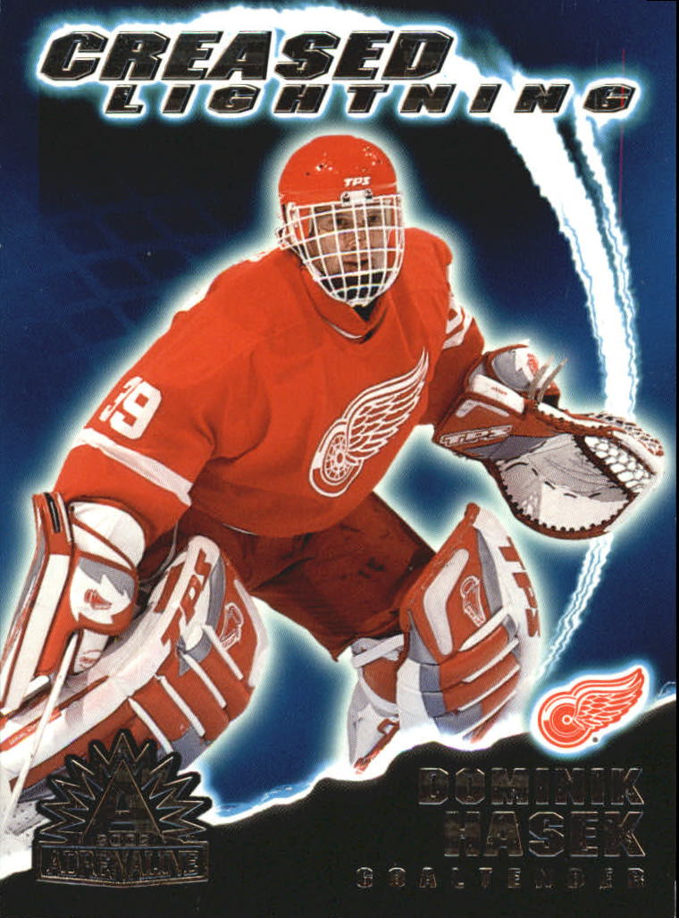 2001-02 Pacific Adrenaline Creased Lightning #6 Dominik Hasek