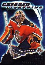 2001-02 Pacific Adrenaline Creased Lightning #8 Roberto Luongo