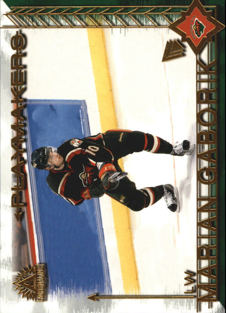 2001-02 Pacific Adrenaline Playmakers #6 Marian Gaborik