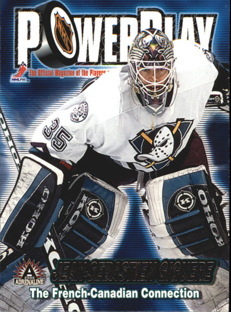 2001-02 Pacific Adrenaline Power Play #1 Jean-Sebastien Giguere