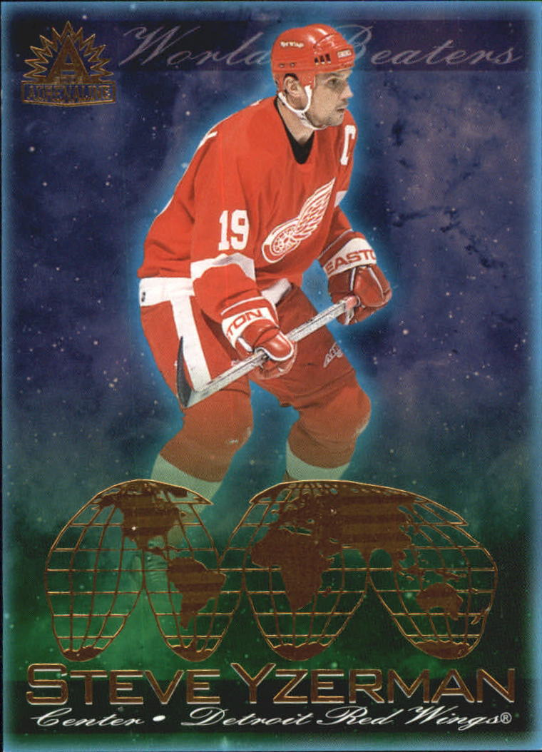 2001-02 Pacific Adrenaline World Beaters #6 Steve Yzerman