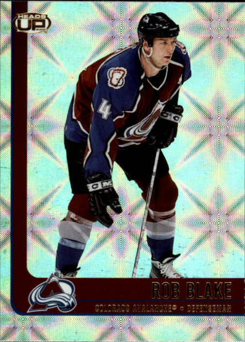2001-02 Pacific Heads Up #21 Rob Blake