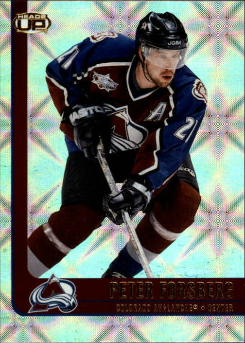 2001-02 Pacific Heads Up #23 Peter Forsberg