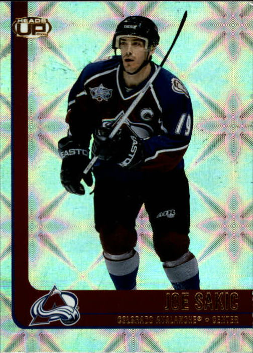 2001-02 Pacific Heads Up #26 Joe Sakic