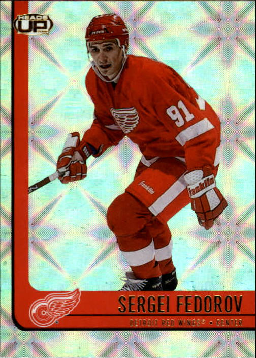 2001-02 Pacific Heads Up #34 Sergei Fedorov