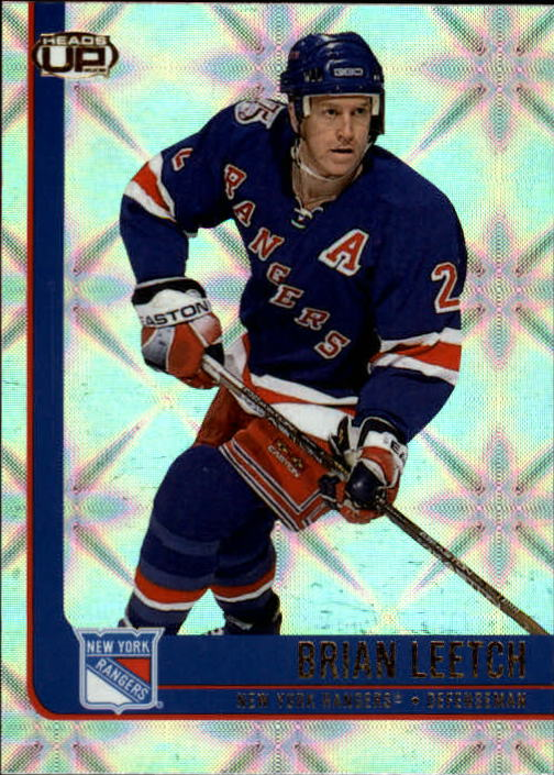 2001-02 Pacific Heads Up #64 Brian Leetch