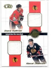 2001-02 Pacific Heads Up Quad Jerseys #7 Steve Sullivan/Alexei Zhamnov/Michael Nylander/Boris Mironov
