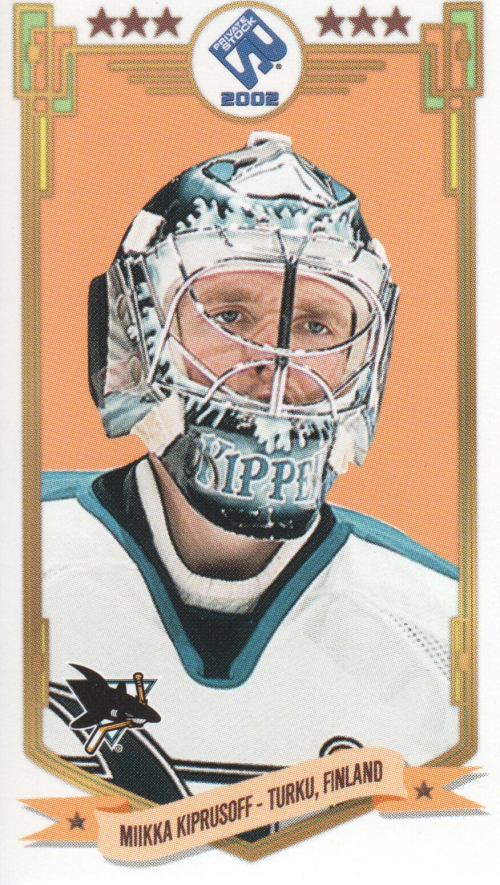 2001-02 Private Stock PS-2002 #89 Miikka Kiprusoff