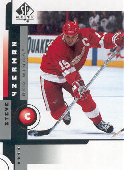 2001-02 SP Authentic #28 Steve Yzerman