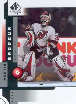 2001-02 SP Authentic #48 Martin Brodeur front image