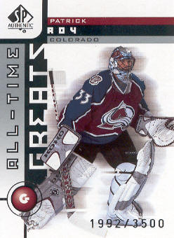 2001-02 SP Authentic #93 Patrick Roy ATG