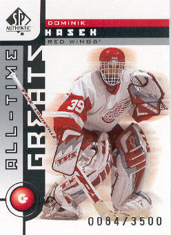 2001-02 SP Authentic #98 Dominik Hasek ATG
