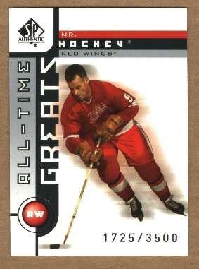 2001-02 SP Authentic #99 Gordie Howe ATG