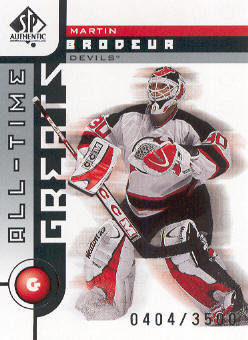 2001-02 SP Authentic #102 Martin Brodeur ATG