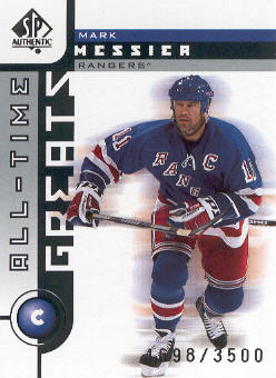 2001-02 SP Authentic #103 Mark Messier ATG
