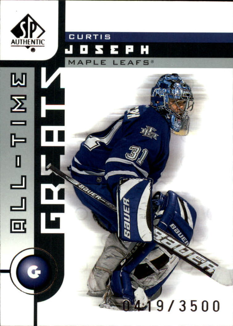 2001-02 SP Authentic #109 Curtis Joseph ATG