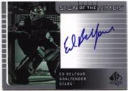 2001-02 SP Authentic Sign of the Times #EB Ed Belfour