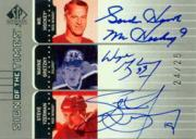 2001-02 SP Authentic Sign of the Times #HGY Gordie Howe/25/Wayne Gretzky/Steve Yzerman