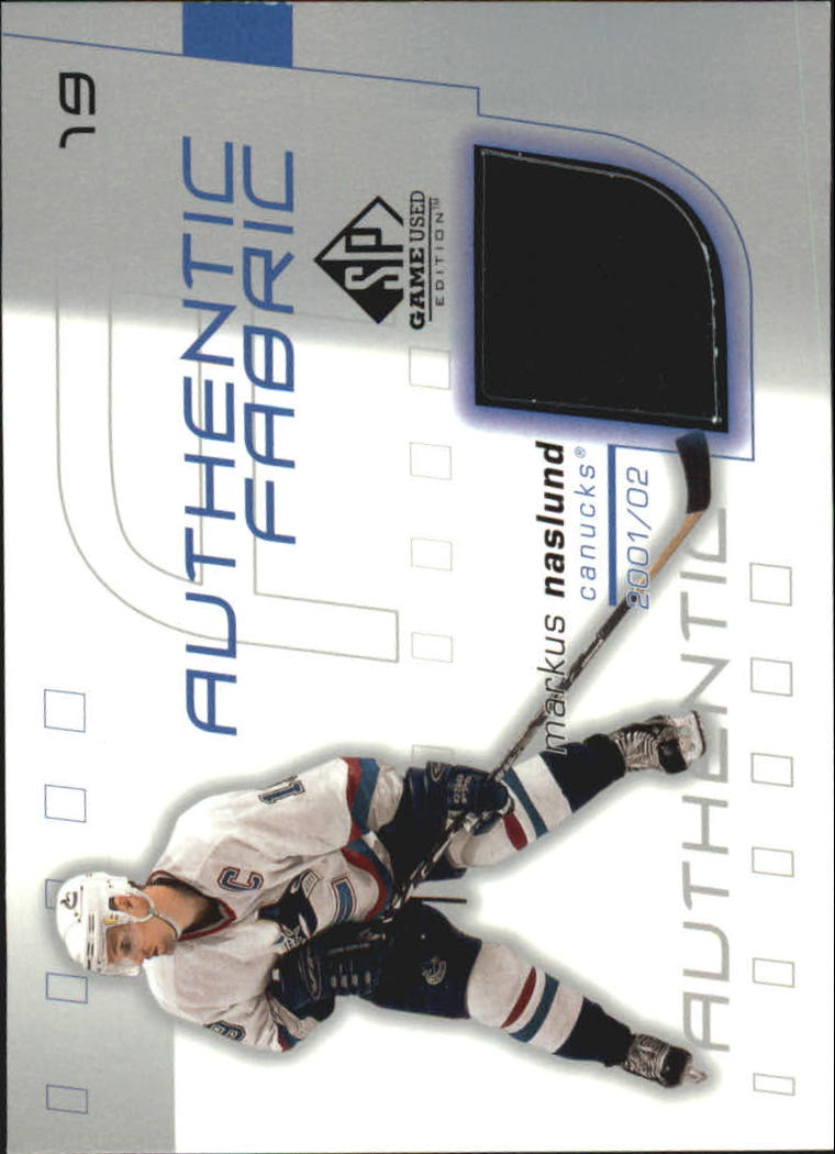 2001-02 SP Game Used Authentic Fabric #AFMN Markus Naslund