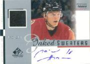 2001-02 SP Game Used Inked Sweaters #ISMH Marian Hossa/100
