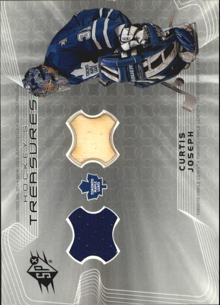 2001-02 SPx Hockey Treasures #HTCJ Curtis Joseph