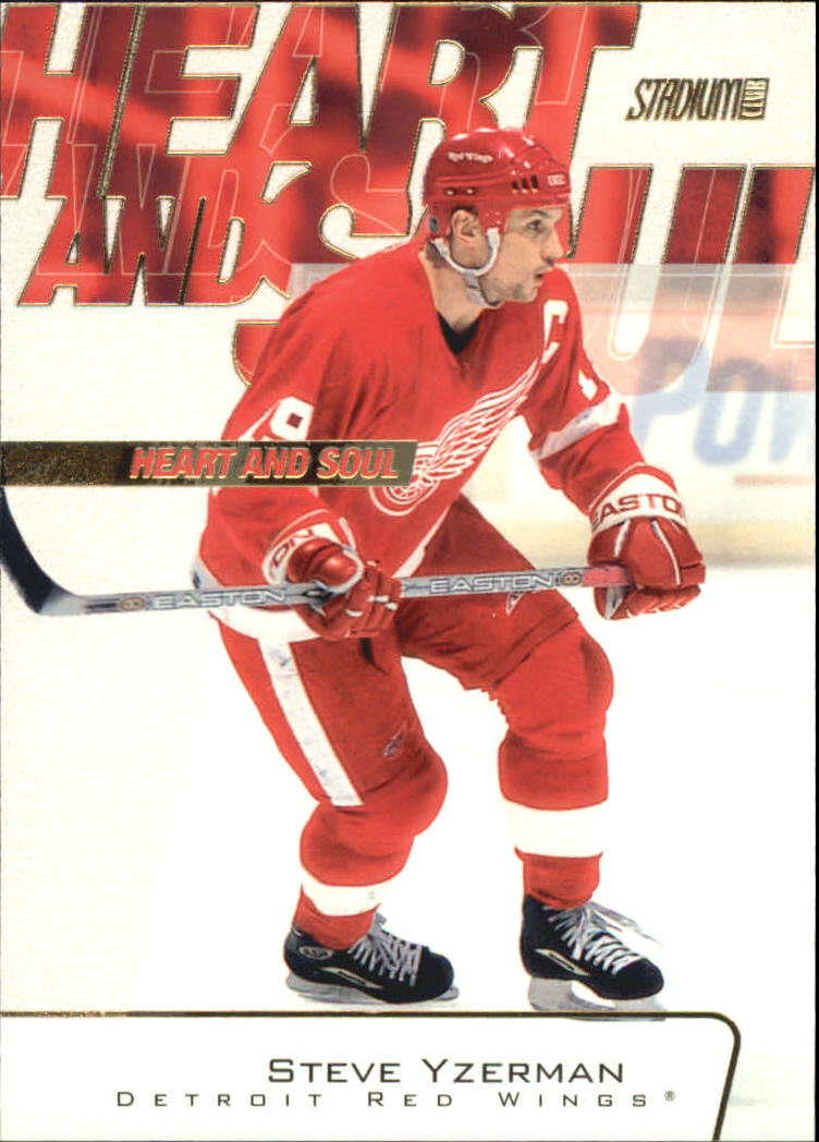 2001-02 Stadium Club Heart and Soul #HS3 Steve Yzerman
