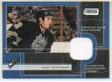 2001-02 Stadium Club Souvenirs #MP Matt Pettinger
