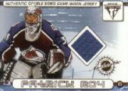 2001-02 Titanium Double-Sided Jerseys #13 Patrick Roy/Rob Blake