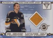 2001-02 Titanium Double-Sided Jerseys #36 Alexei Kovalev/Rich Parent