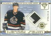 2001-02 Titanium Double-Sided Patches #54 Henrik Sedin/Daniel Sedin/218