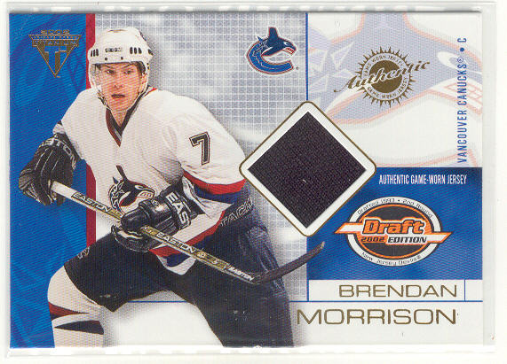 2001-02 Titanium Draft Day Edition #95 Brendan Morrison