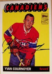 2001-02 Topps Rookie Reprint Autographs #2 Yvan Cournoyer
