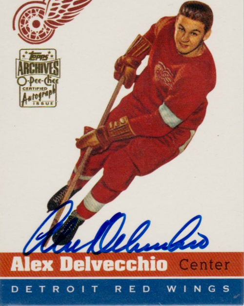 2001-02 Topps Archives Autographs #13 Alex Delvecchio