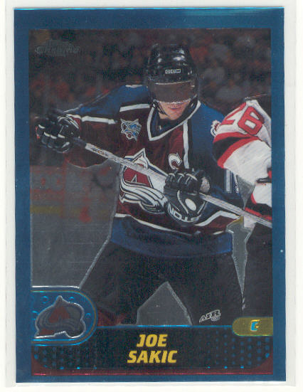 2001-02 Topps Chrome #27 Joe Sakic