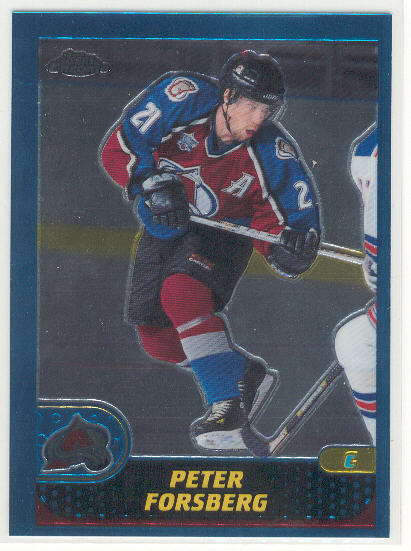 2001-02 Topps Chrome #87 Peter Forsberg