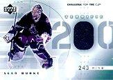 2001-02 UD Challenge for the Cup Jerseys #TSB Sean Burke