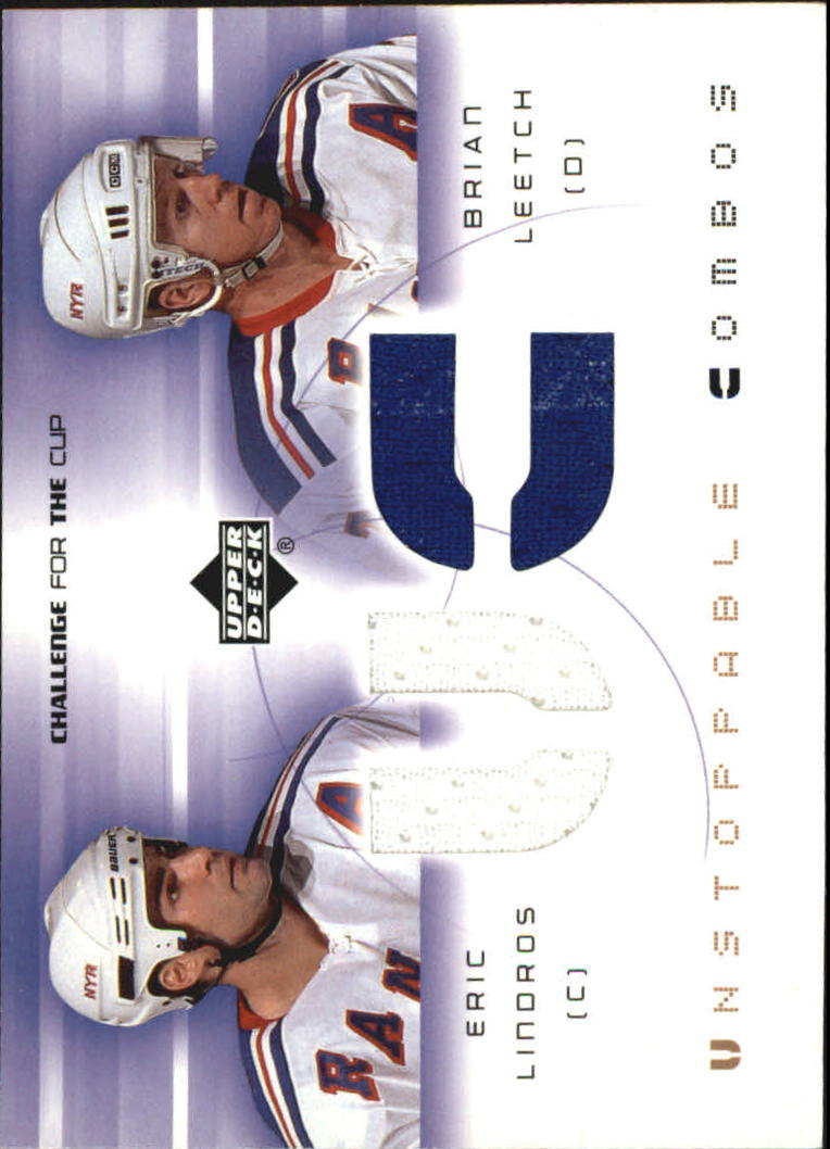 2001-02 UD Challenge for the Cup Jerseys #UCLL Eric Lindros/Brian Leetch
