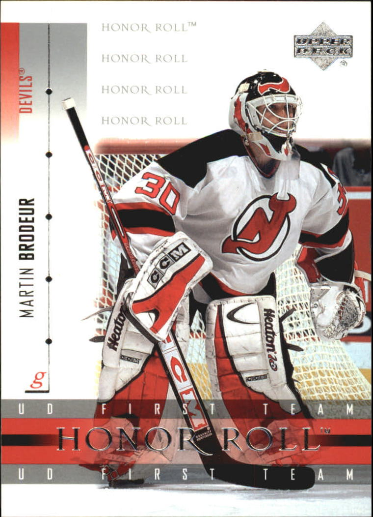 2001-02 Upper Deck Honor Roll #12 Martin Brodeur