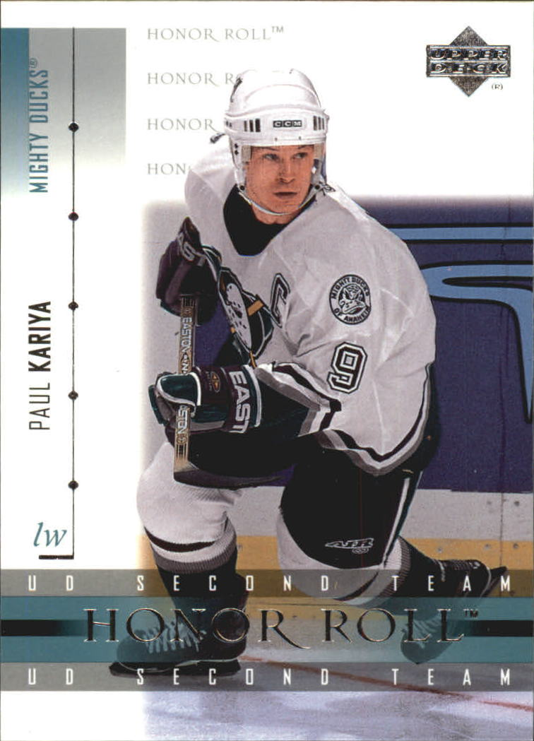 2001-02 Upper Deck Honor Roll #13 Paul Kariya