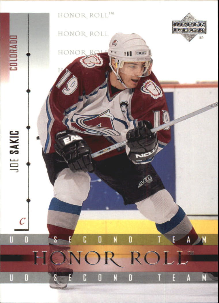 2001-02 Upper Deck Honor Roll #14 Joe Sakic