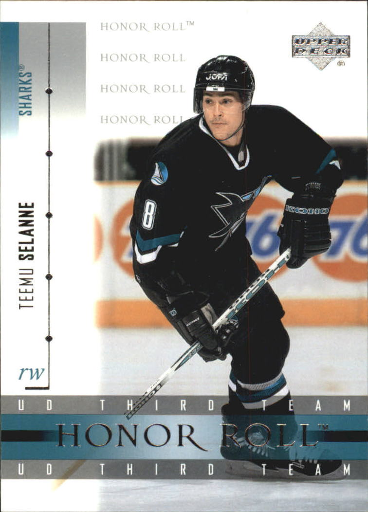 2001-02 Upper Deck Honor Roll #21 Teemu Selanne