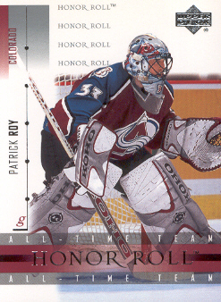 2001-02 Upper Deck Honor Roll #36 Patrick Roy