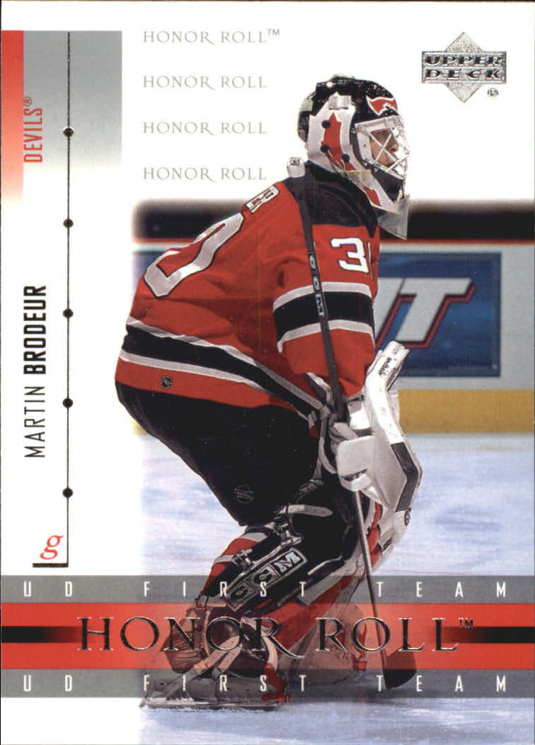 2001-02 Upper Deck Honor Roll #42 Martin Brodeur