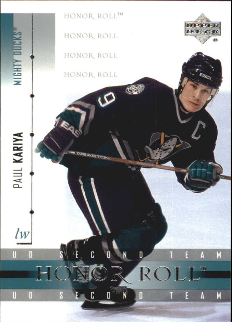 2001-02 Upper Deck Honor Roll #43 Paul Kariya